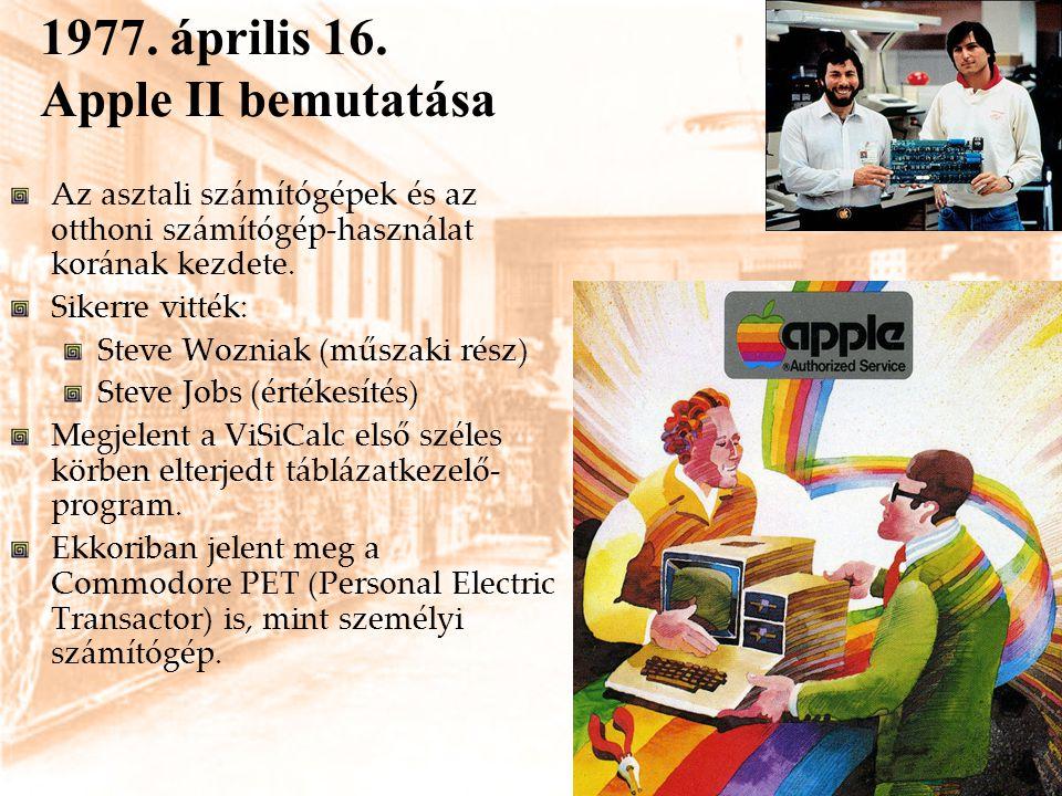 1977. április 16. Apple II bemutatása