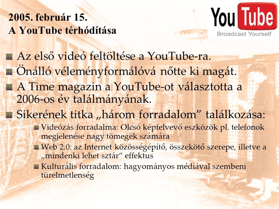 2005. február 15. A YouTube térhódítása