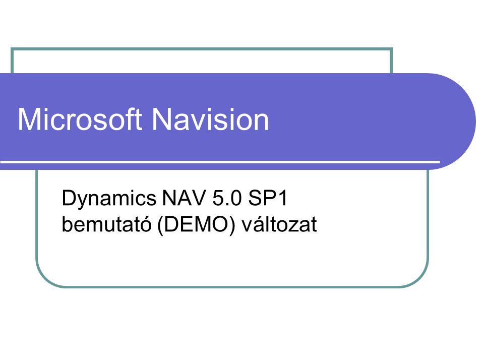 Dynamics NAV 5.0 SP1 bemutató (DEMO) változat