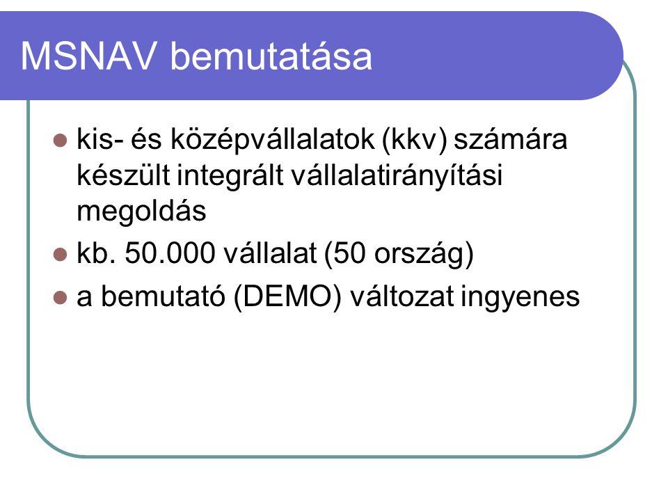 MSNAV bemutatása kis- és középvállalatok (kkv) számára készült integrált vállalatirányítási megoldás.
