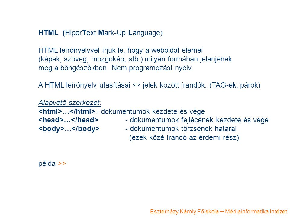 HTML (HiperText Mark-Up Language)