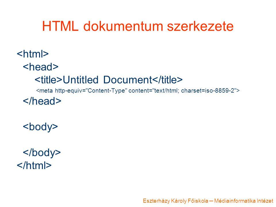 HTML dokumentum szerkezete