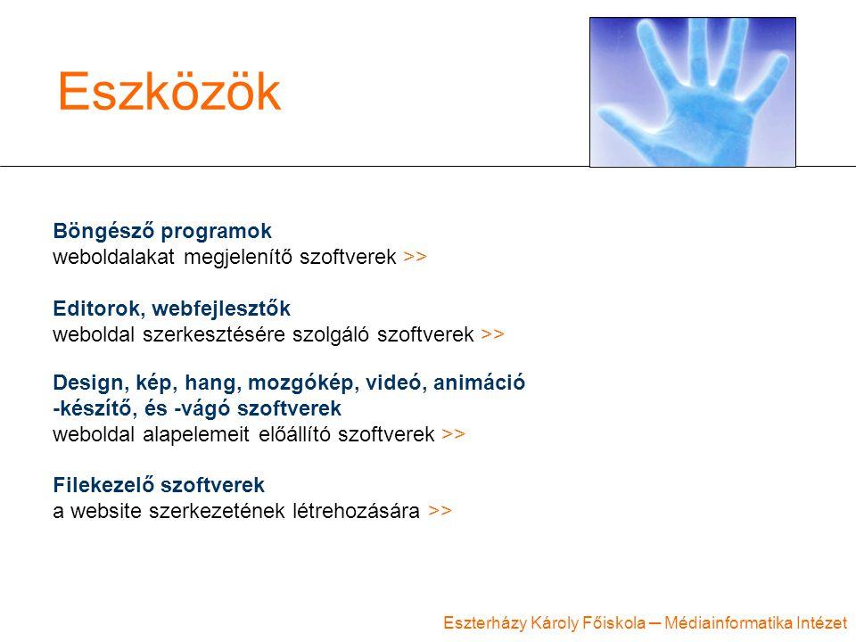 Eszközök Böngésző programok