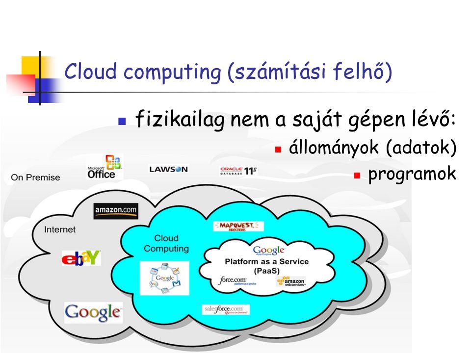 Cloud computing (számítási felhő)
