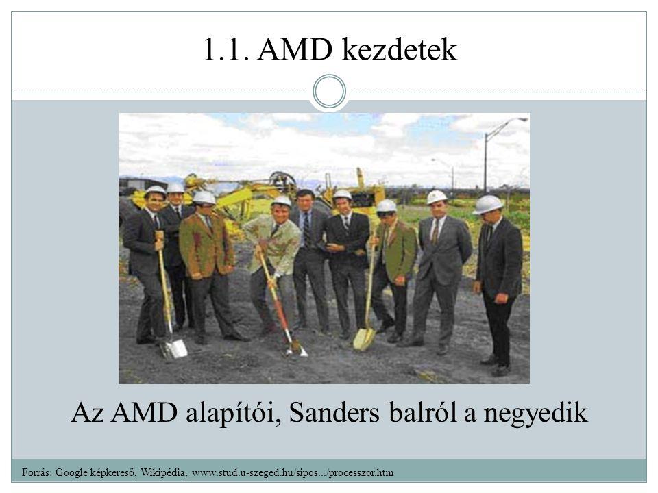 Az AMD alapítói, Sanders balról a negyedik