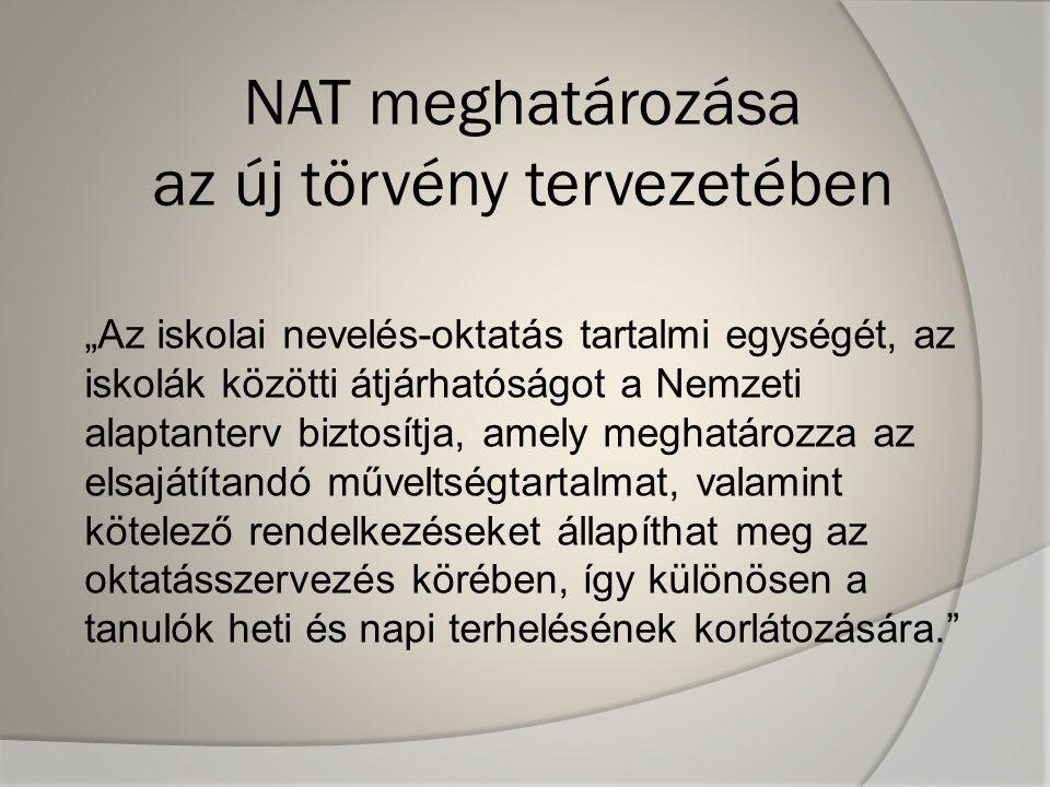 NAT meghatározása az új törvény tervezetében