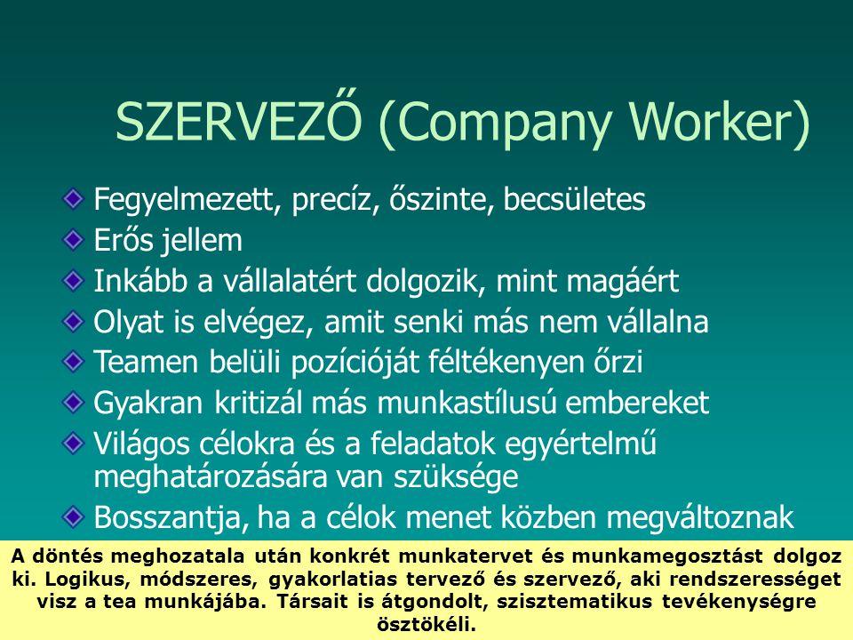 SZERVEZŐ (Company Worker)