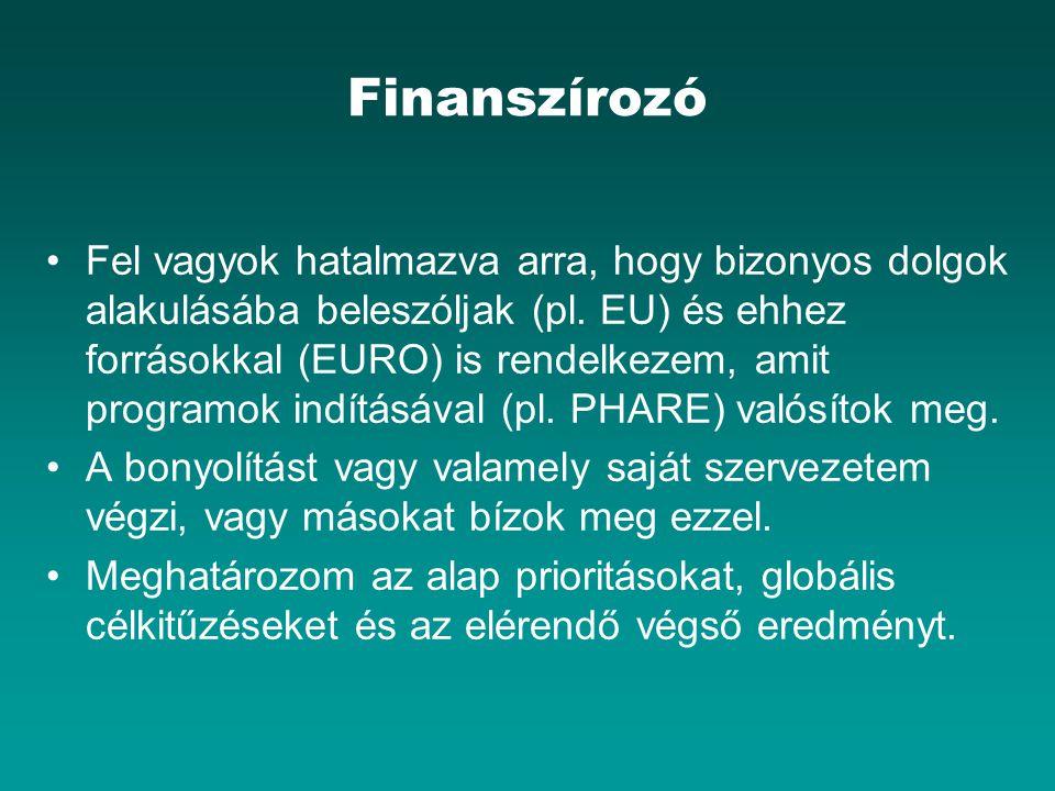 Finanszírozó