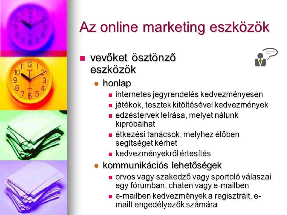 Az online marketing eszközök