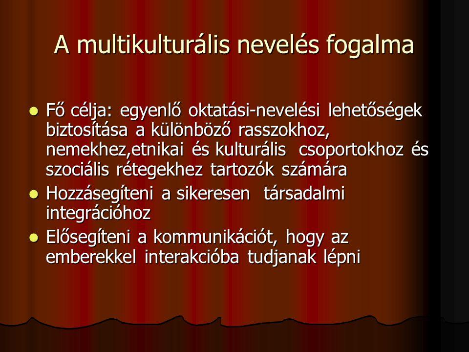 A multikulturális nevelés fogalma