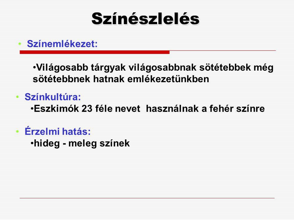 Színészlelés Színemlékezet: