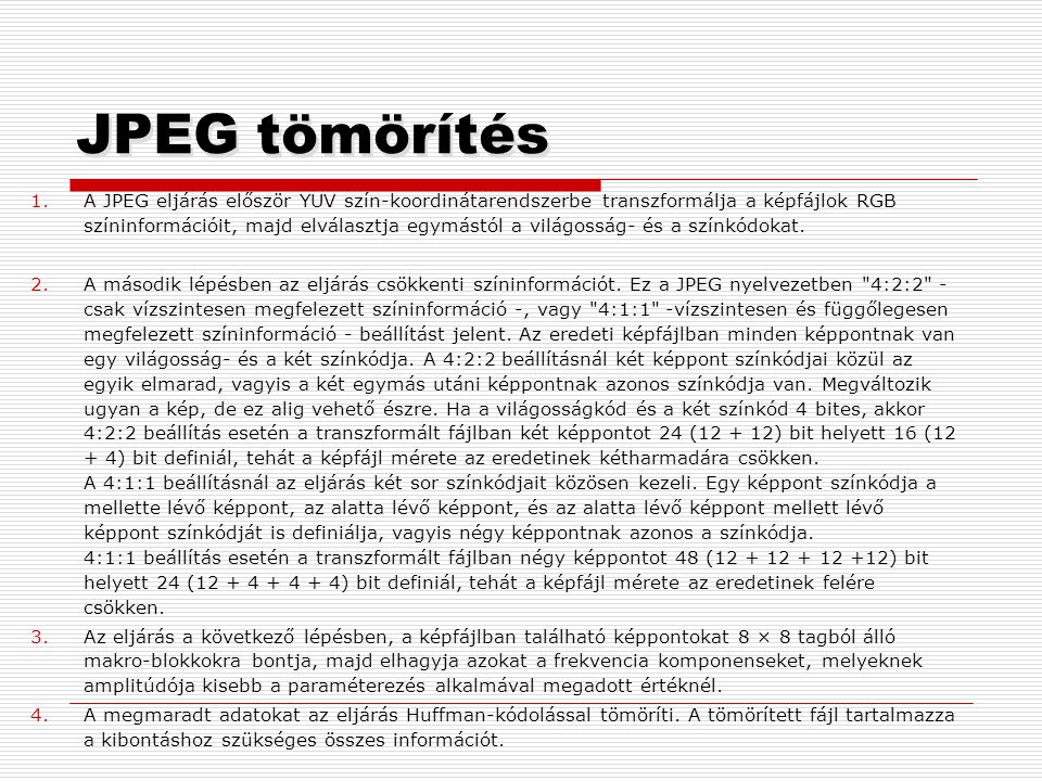 JPEG tömörítés