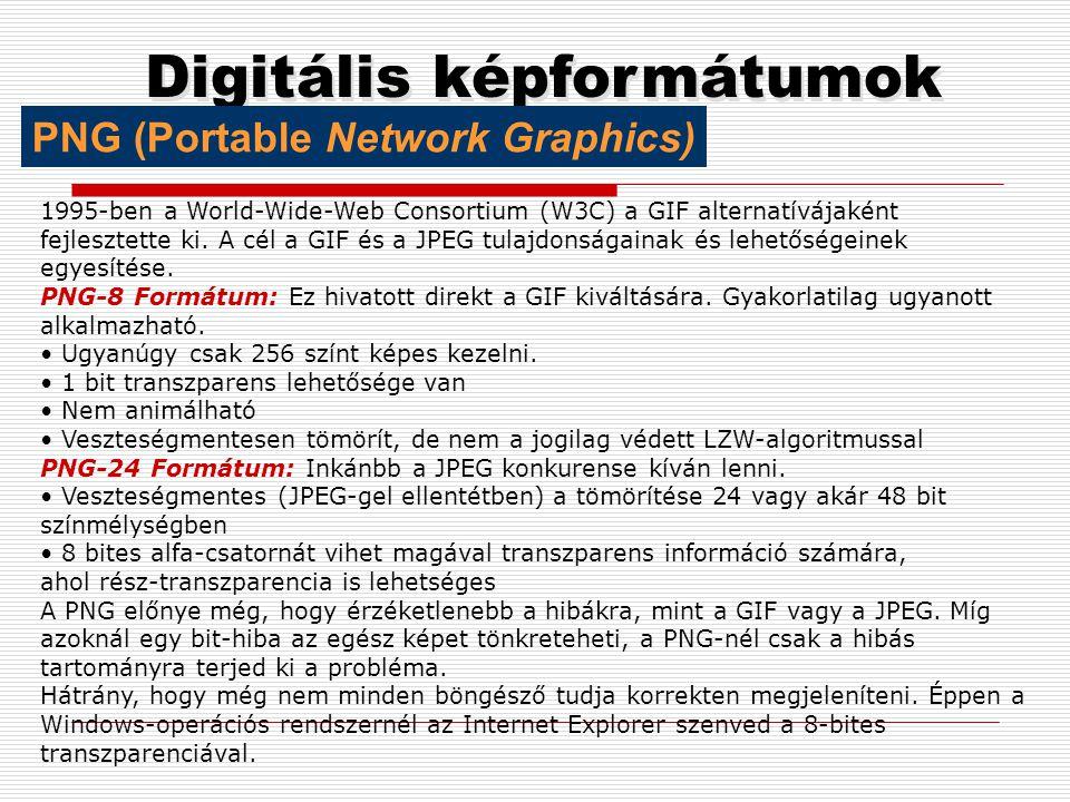 Digitális képformátumok