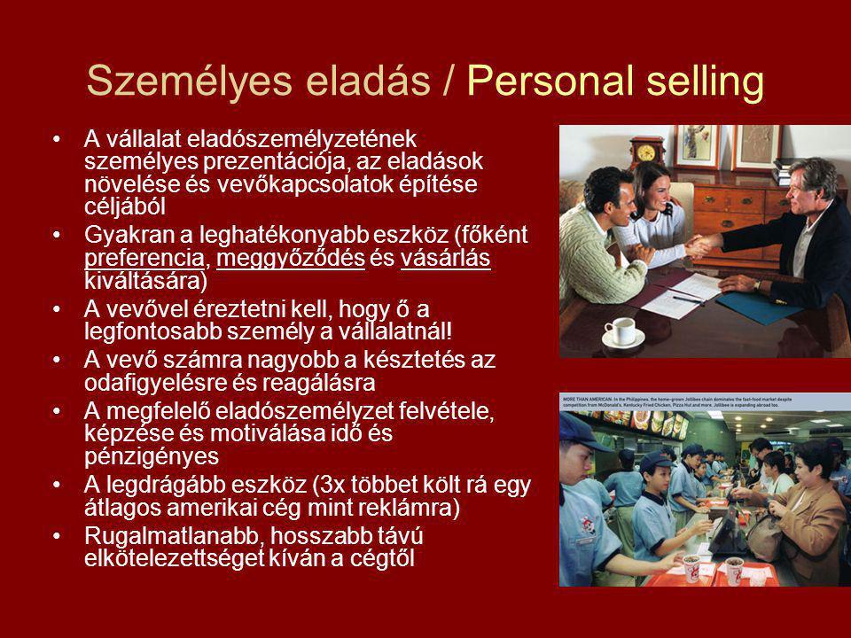 Személyes eladás / Personal selling