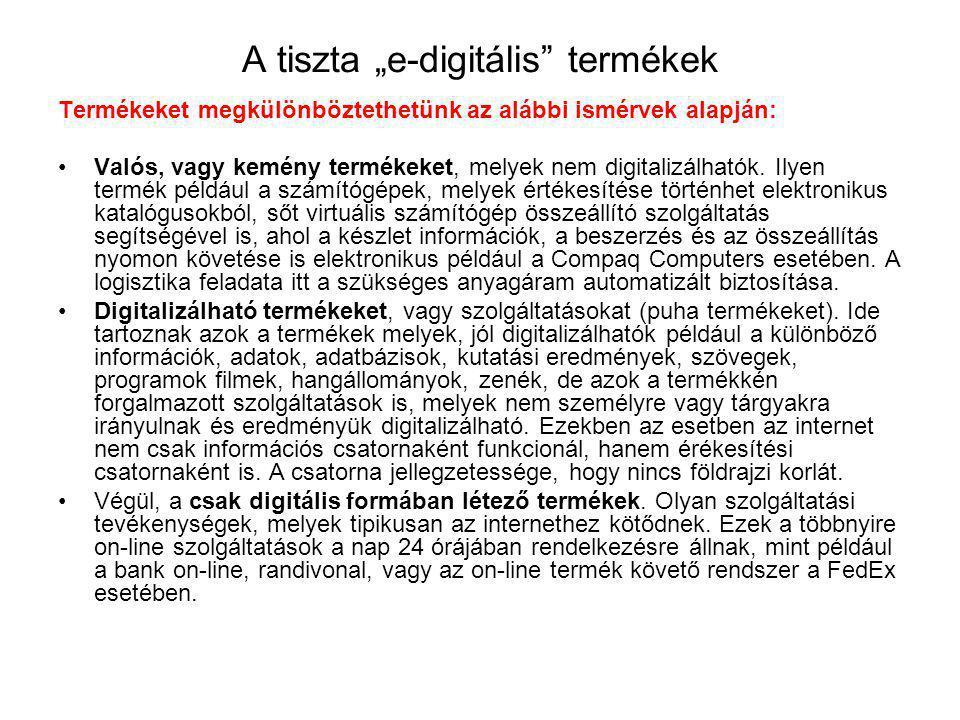 """A tiszta """"e-digitális termékek"""
