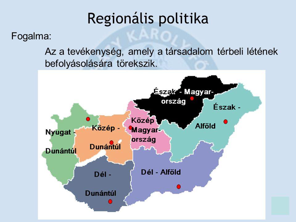 Regionális politika Fogalma: