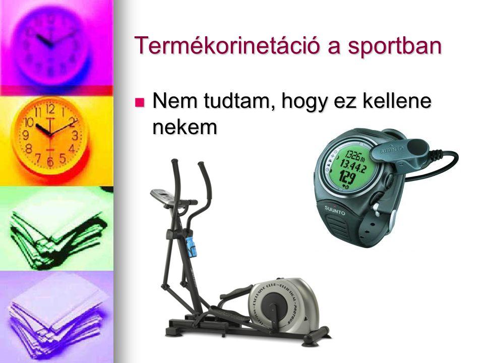 Termékorinetáció a sportban