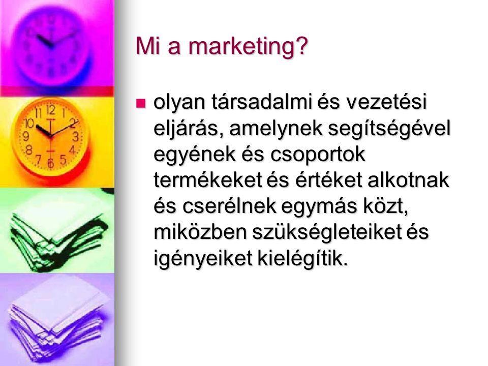 Mi a marketing