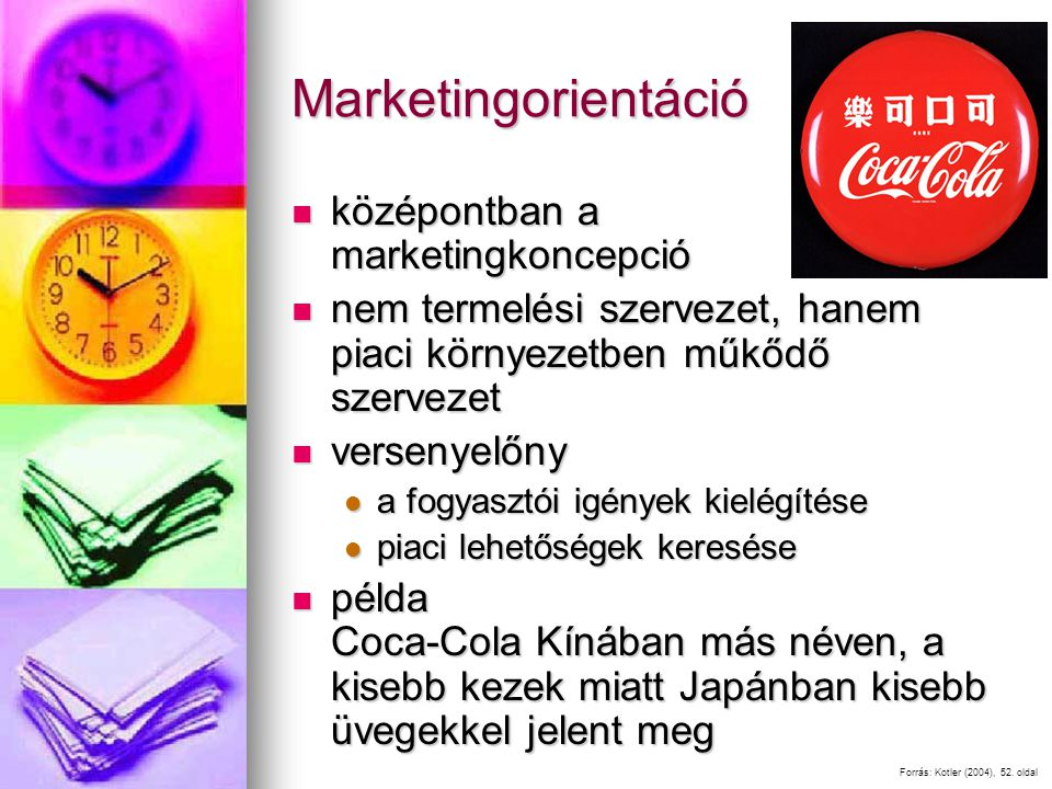 Marketingorientáció középontban a marketingkoncepció
