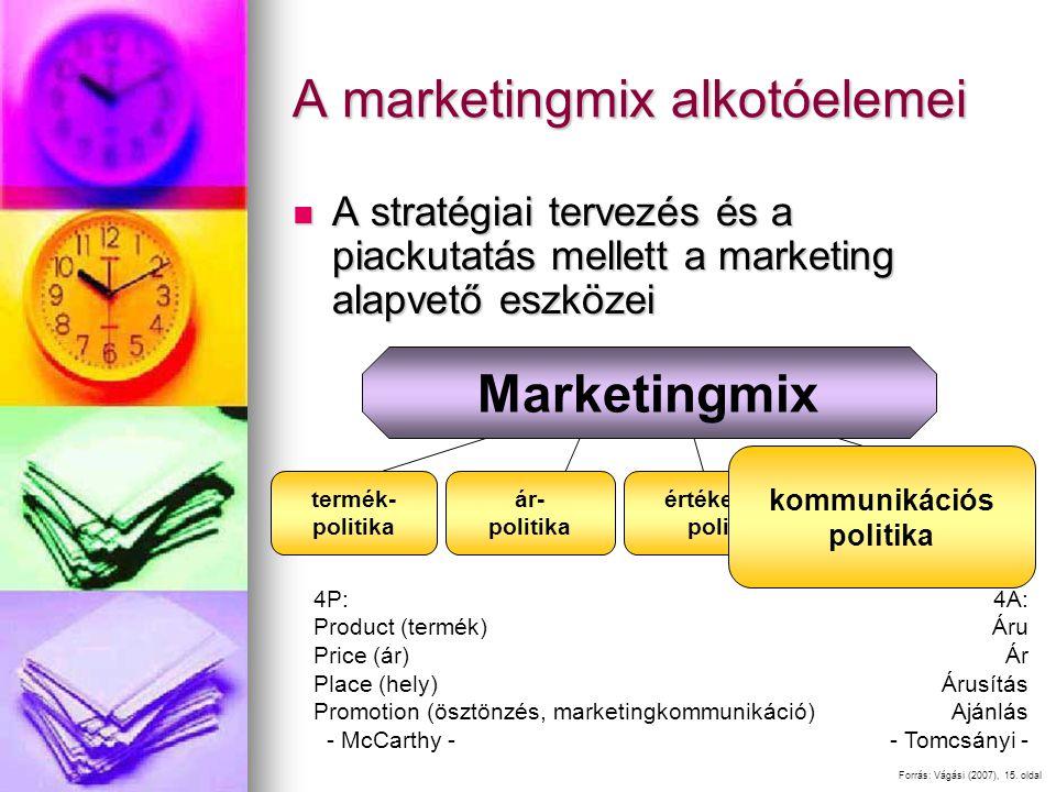 A marketingmix alkotóelemei