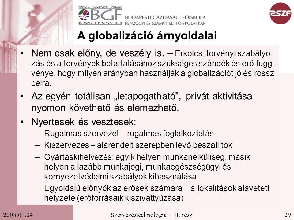 A globalizáció árnyoldalai