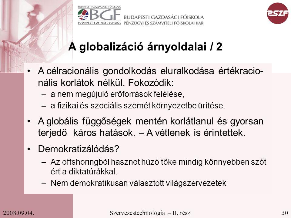 A globalizáció árnyoldalai / 2