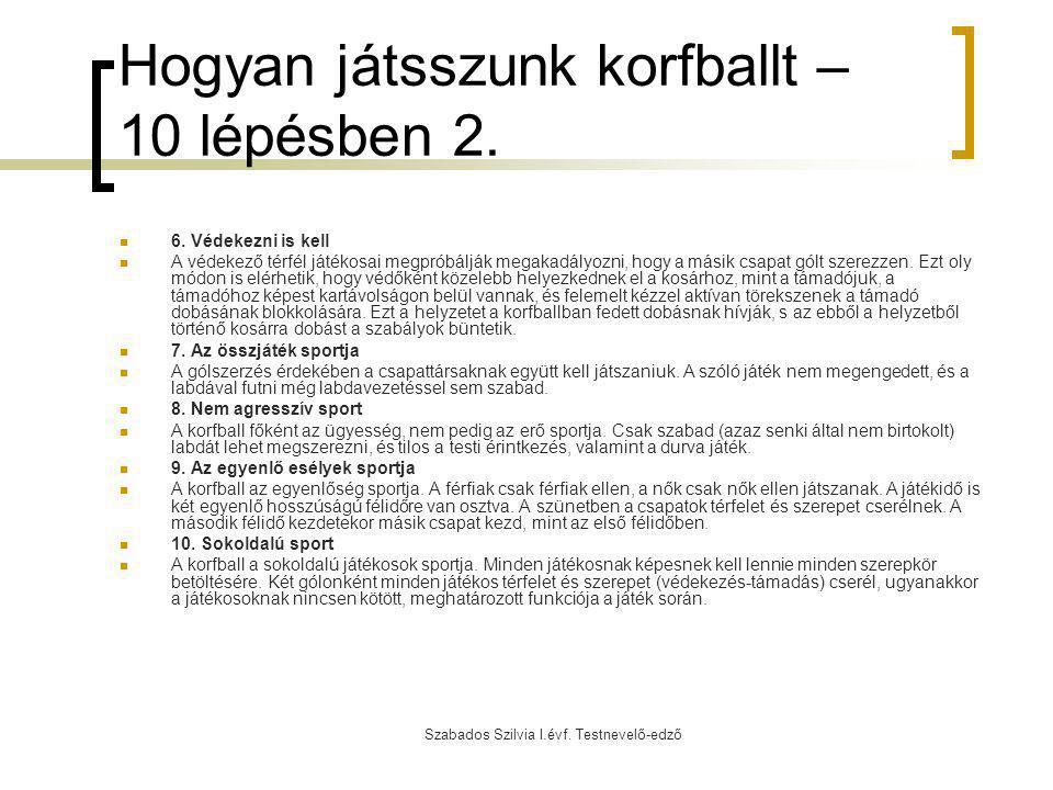 Hogyan játsszunk korfballt – 10 lépésben 2.