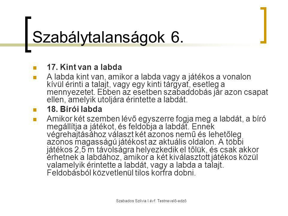 Szabados Szilvia I.évf. Testnevelő-edző
