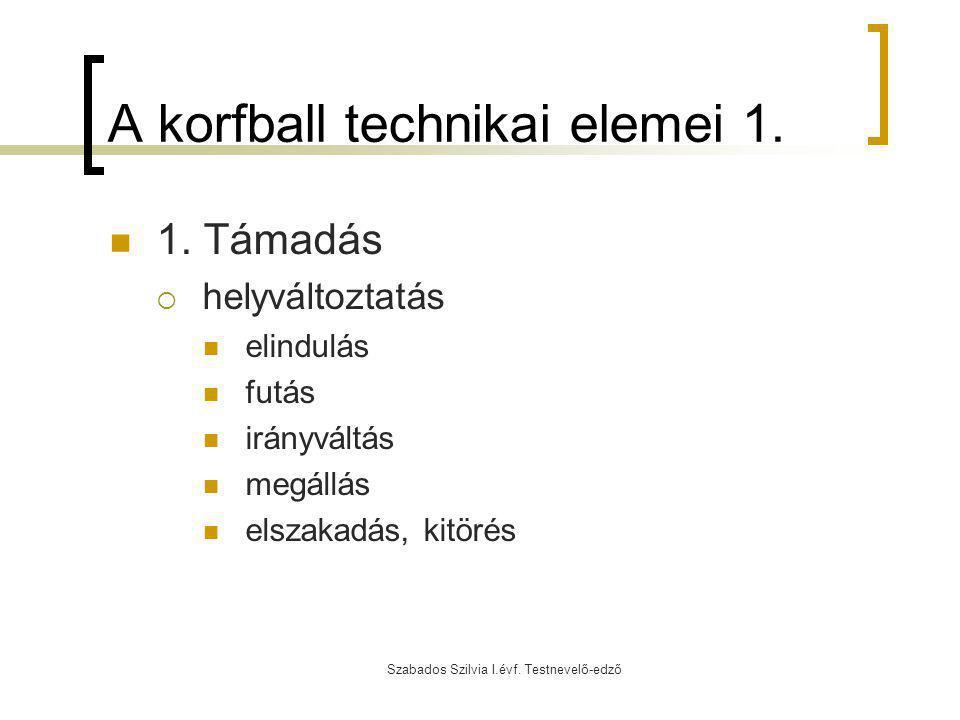 A korfball technikai elemei 1.