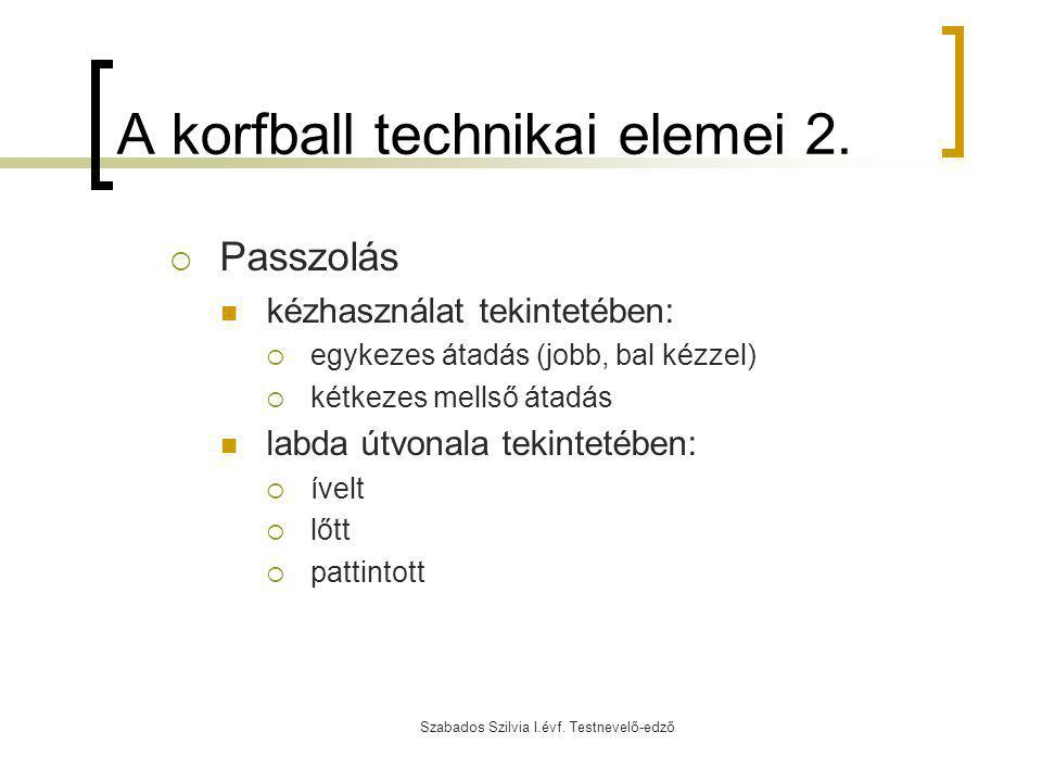 A korfball technikai elemei 2.
