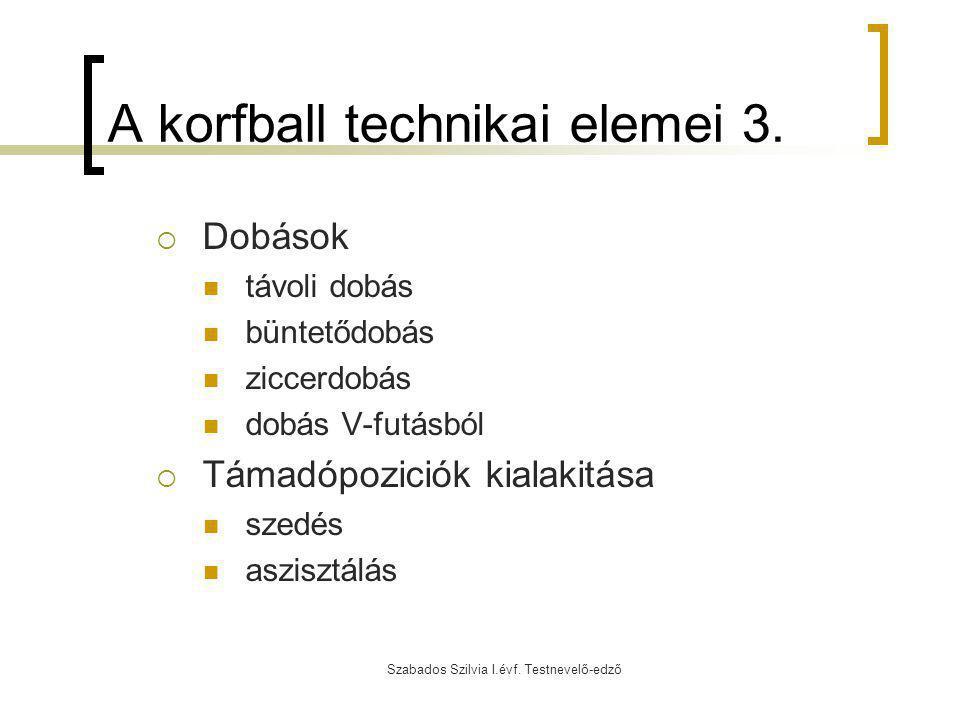 A korfball technikai elemei 3.