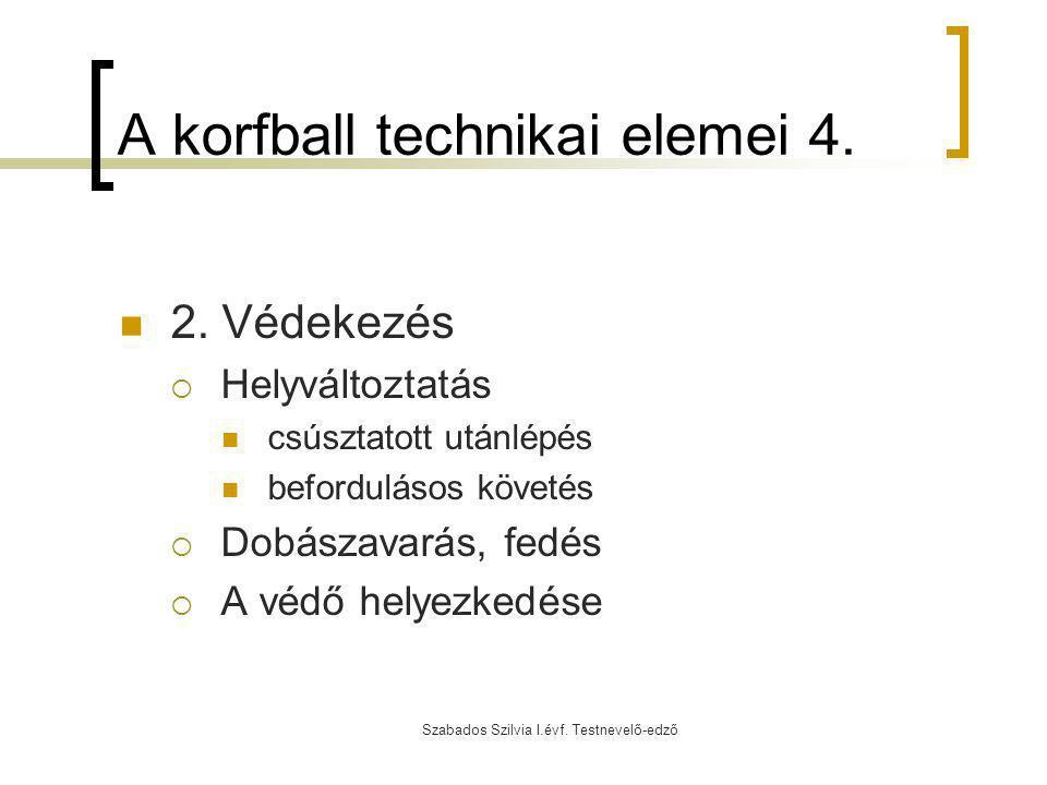A korfball technikai elemei 4.