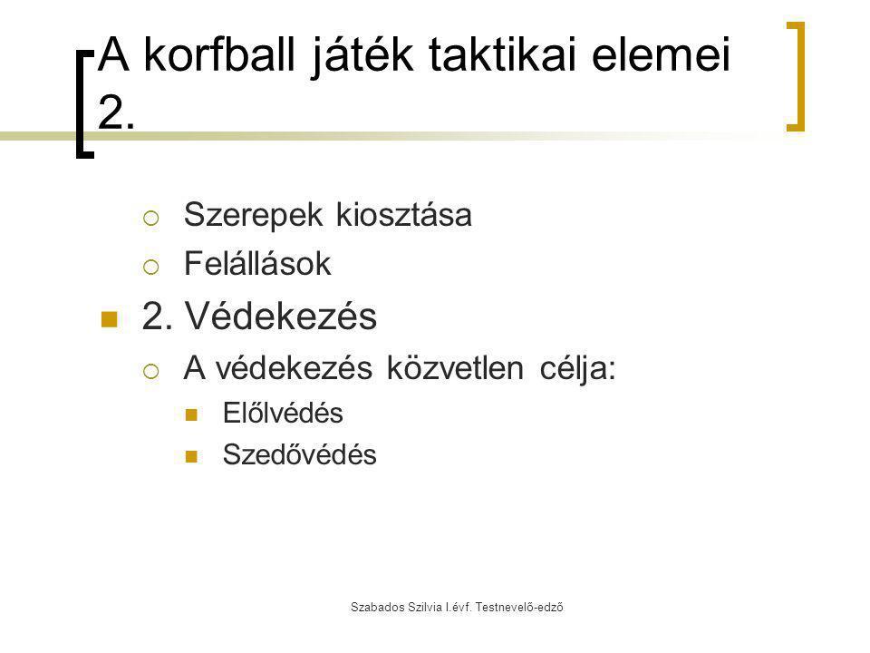 A korfball játék taktikai elemei 2.