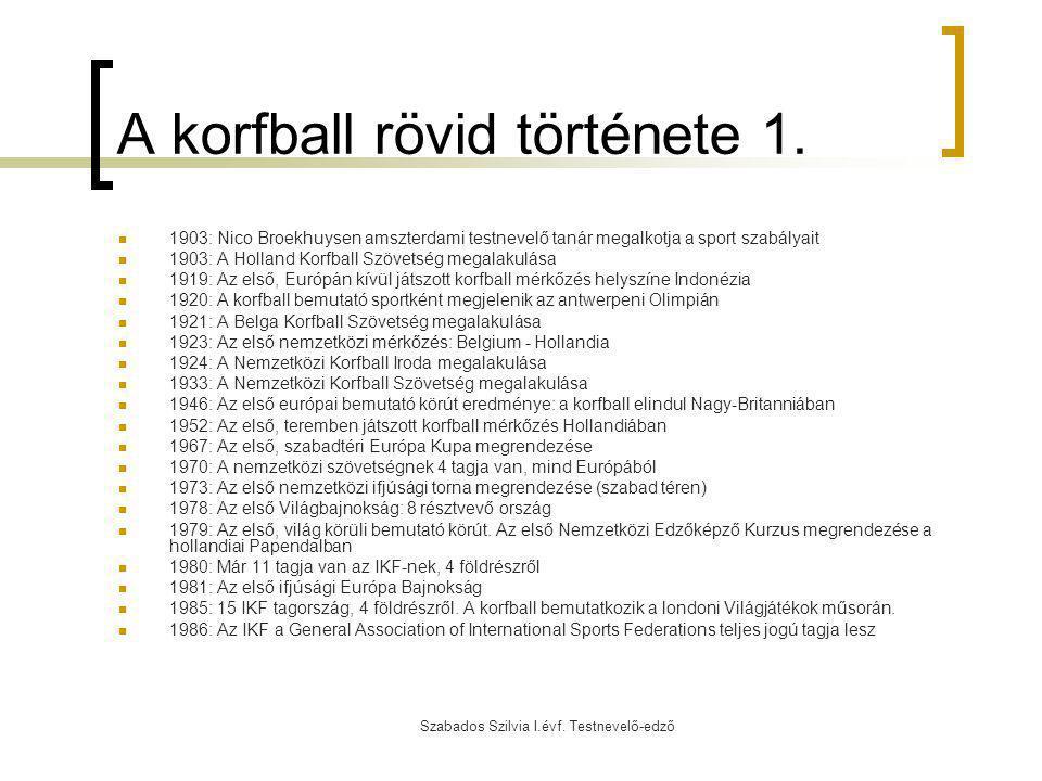 A korfball rövid története 1.