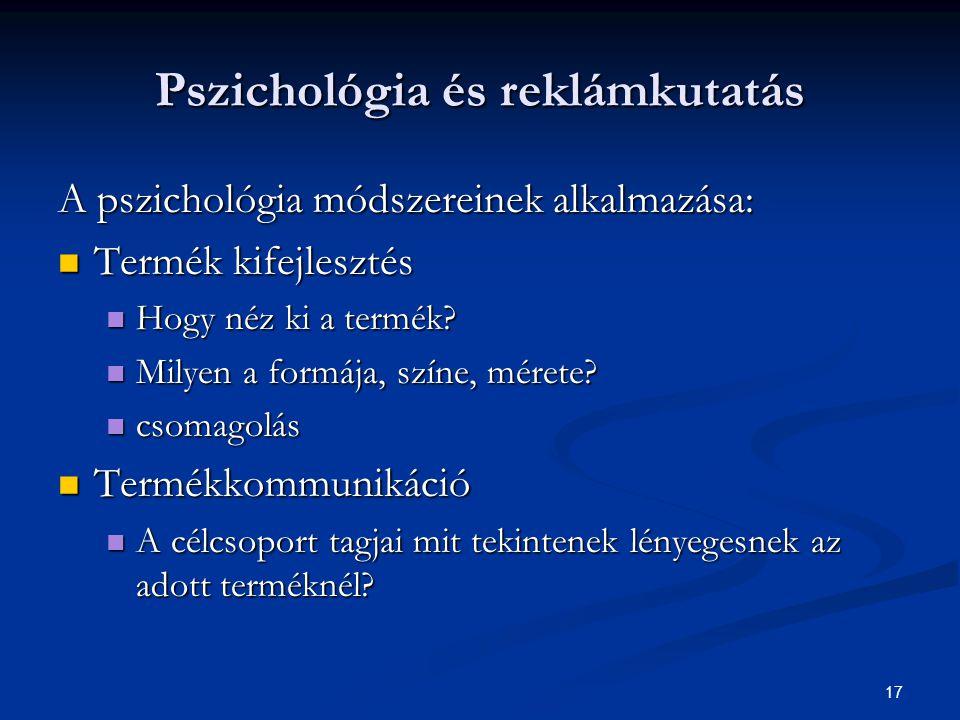 Pszichológia és reklámkutatás