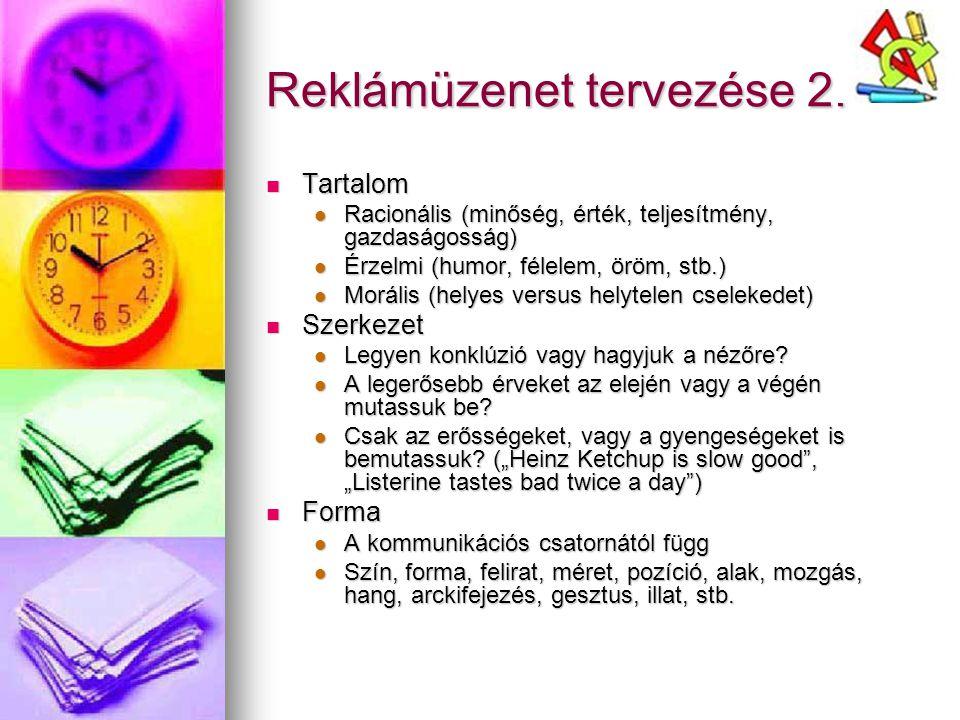 Reklámüzenet tervezése 2.