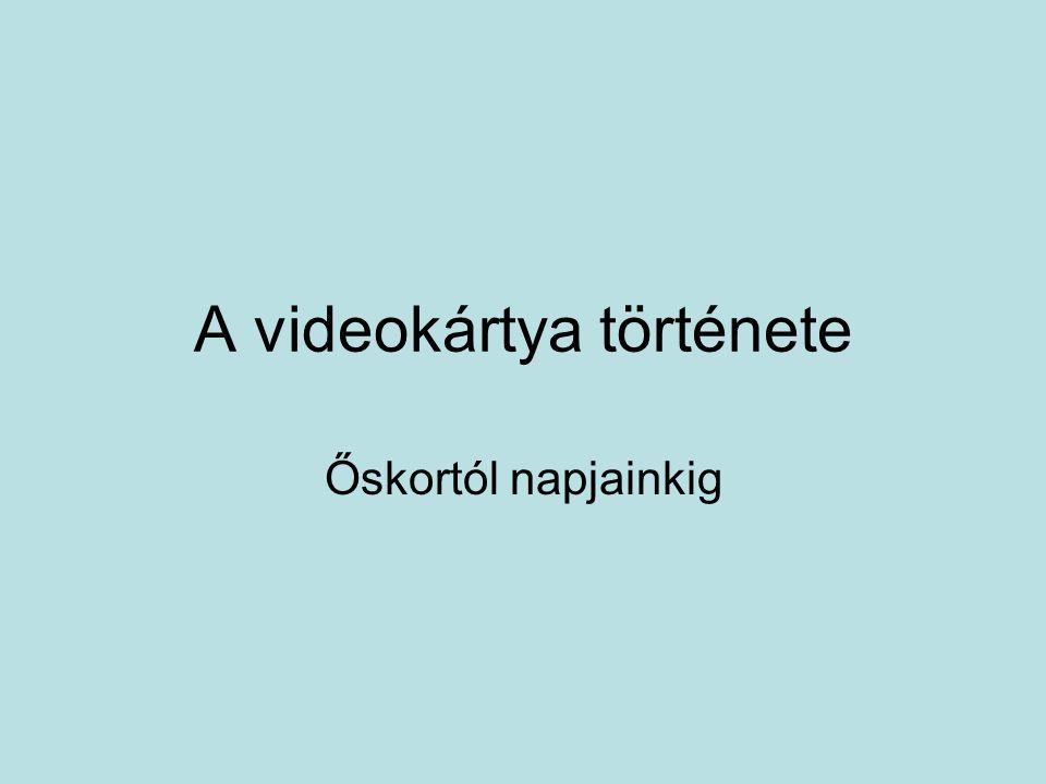 A videokártya története