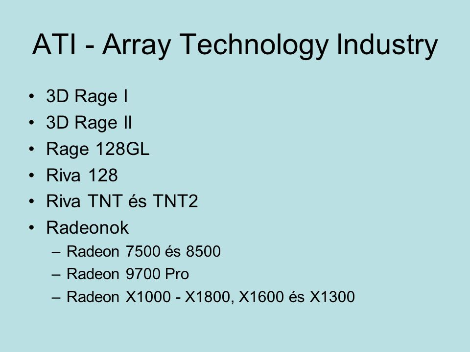 ATI - Array Technology Industry
