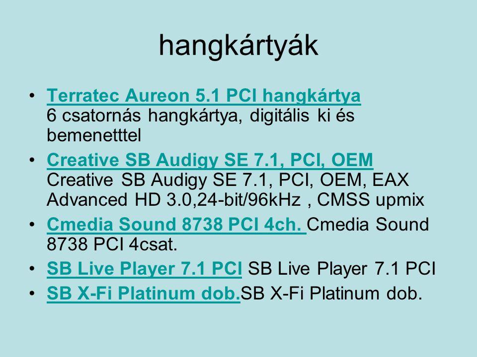 hangkártyák Terratec Aureon 5.1 PCI hangkártya 6 csatornás hangkártya, digitális ki és bemenetttel.