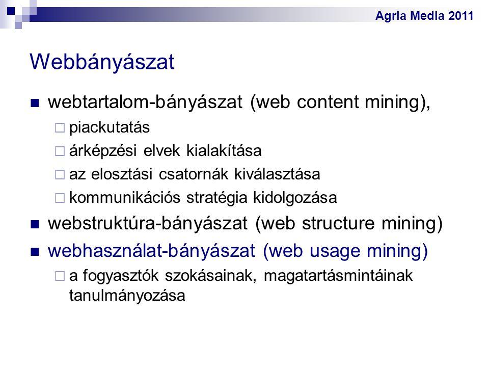 Webbányászat webtartalom-bányászat (web content mining),