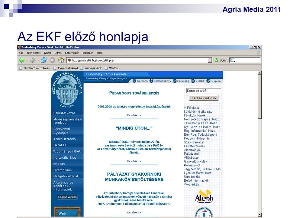 Az EKF előző honlapja
