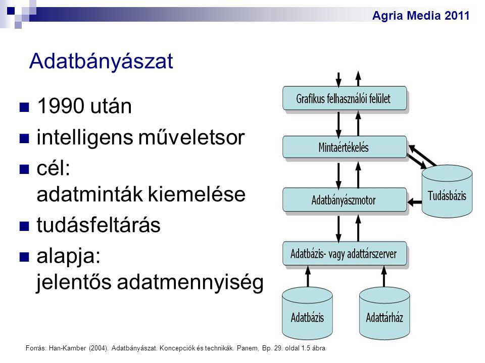 intelligens műveletsor cél: adatminták kiemelése tudásfeltárás