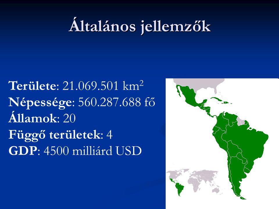 Általános jellemzők Területe: 21.069.501 km2 Népessége: 560.287.688 fő