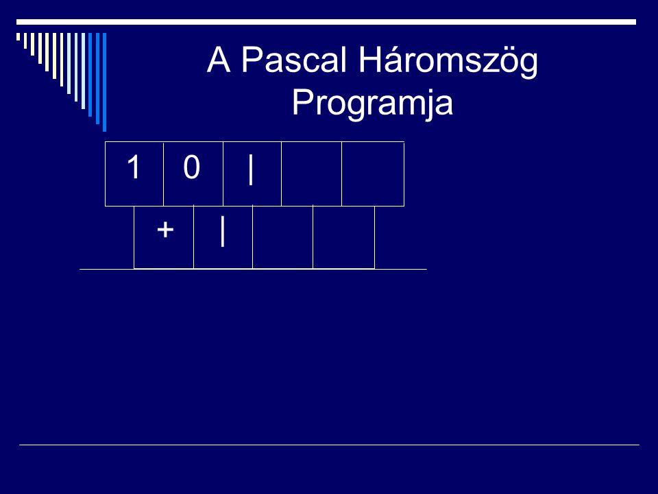A Pascal Háromszög Programja