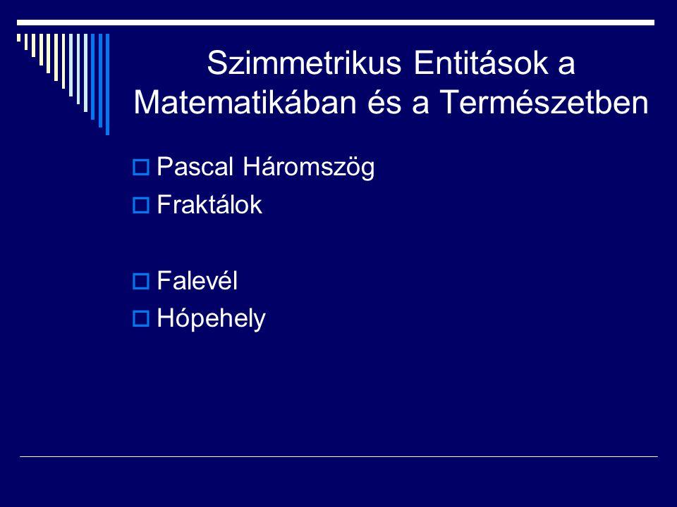 Szimmetrikus Entitások a Matematikában és a Természetben
