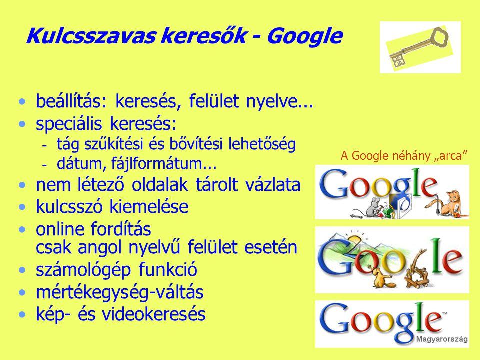 Kulcsszavas keresők - Google