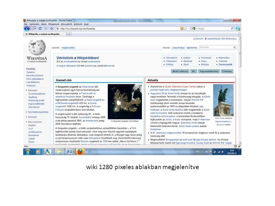wiki 1280 pixeles ablakban megjelenítve