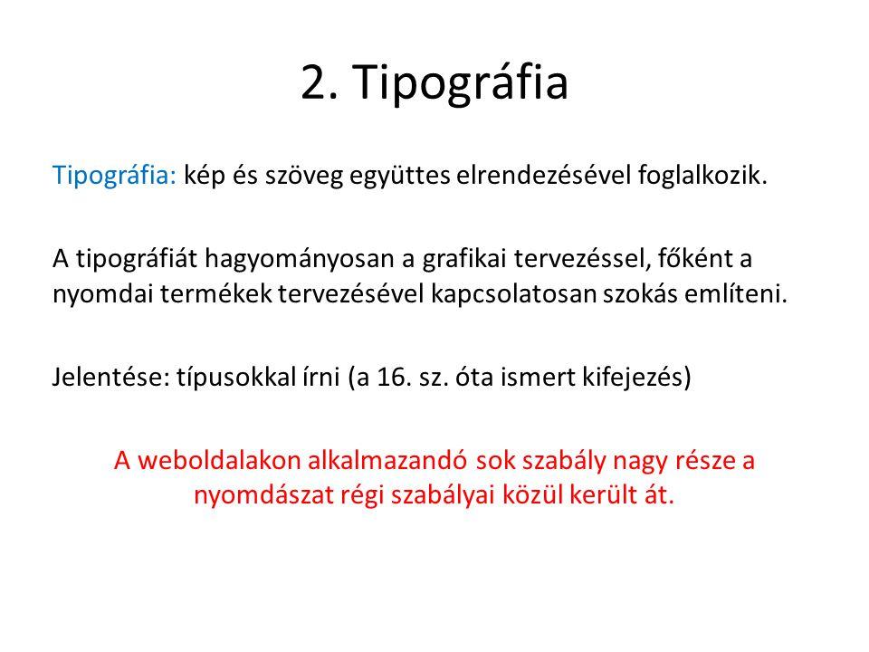 2. Tipográfia