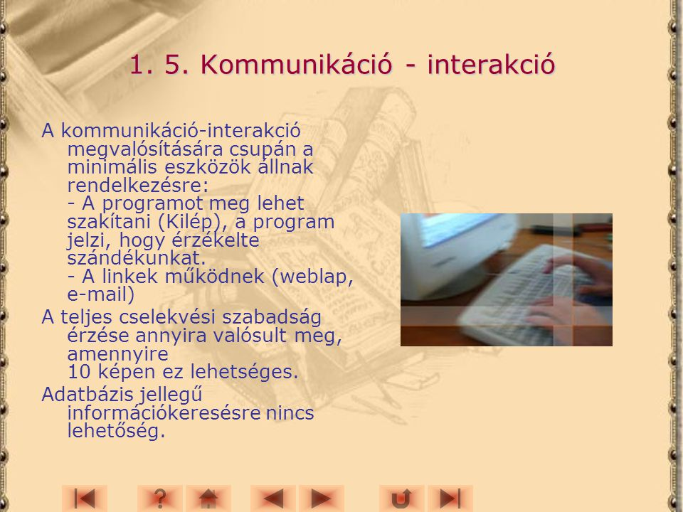 1. 5. Kommunikáció - interakció