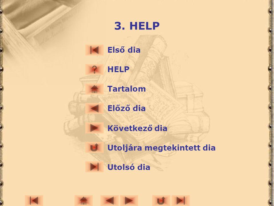 3. HELP Első dia HELP Tartalom Előző dia Következő dia